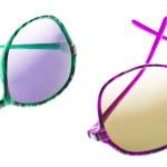 Hip Blue Zebra Stripe Sunglasses — Stock Photo