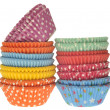 Stack of Vibrant Cupcake Wrappers — Stockfoto