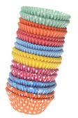 Stack of Vibrant Cupcake Wrappers — Stock Photo