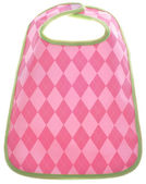 Pink Argyle Baby Girl Bib — Stock Photo