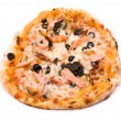 Stock Photo: Pizzwith crude Motstsarella, sauce mafia, cream from artic
