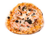 Pizza with crude Motstsarella, sauce a mafia, a cream from artic — Stock Photo