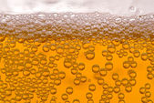 Close up of beer bubbles — Stockfoto