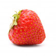 A ripe strawberry on white - Stock Photo