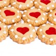 Heart cookies background - Stock Photo