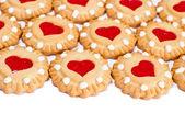 Fondo de galletas de corazón — Foto de Stock