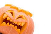Evil Halloween pumpkin — Stock Photo