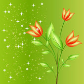 Natural Flower — Stock Vector