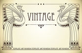 Vintage background with bird of happiness — Vetorial Stock