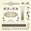 Vector set of ornate page decor elements — Stock Vector #8711111