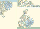 Background with flowers of spring — Stock Vector