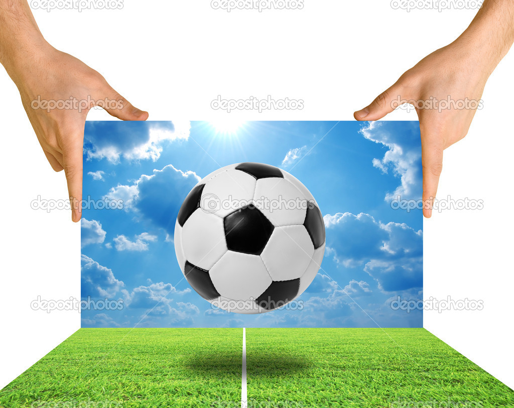Football soccer isolated on a white — Stock Photo #10198048