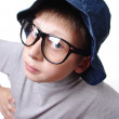 Serious boy. Funny. - Stock Photo