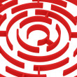 Red labyrinth - Stock Photo