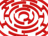 Red labyrinth — Stock Photo