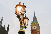 Big Ben tower clock at London, England — 图库照片