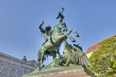 Saint George Fighting the Dragon Statue at Berlin, Germany — Stock Photo