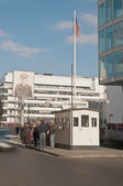The Checkpoint Charlie at Berlin, Germany — Stock Photo