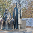 Постер, плакат: Statue of Karl Marx and Friedrich Engels at Berlin Germany