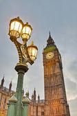 Relógio de torre do big ben em londres, inglaterra — Foto Stock