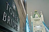 тауэрский мост в лондоне, англия — Стоковое фото