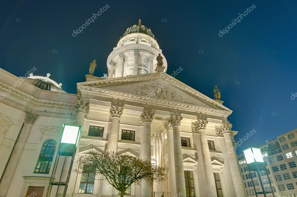 The Deutscher Dom (German Cathedral) situated on Gendarmenmarkt (the Gendarmes Market) south side at Berlin, Germany  Stock Photo #10222098