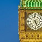 Big Ben tower clock at London, England — Stock Photo #10235884