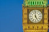 Big Ben tower clock at London, England — Stock Photo