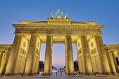 La puerta de brandemburgo en berlín, alemania — Foto de Stock