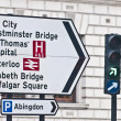 Streetsign at London, England — Stockfoto
