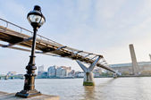 Millennium Bridge at London, England — Stock Photo
