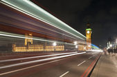 Westminster Bridge at London, England — Stock Photo