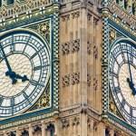 Big Ben tower clock at London, England — Stock Photo #9861942