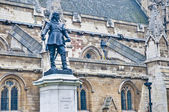 Oliver Cromwell statue at London, England — Stock Photo