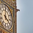 Stock Photo: Big Ben tower clock at London, England