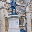 Oliver Cromwell statue at London, England — Foto Stock