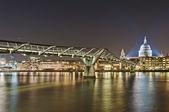 Millennium Bridge at London, England — Stock Photo