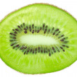 Kiwi slice isolated on white background — Stock Photo