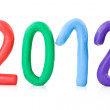 Plasticine numbers show year 2012 — Stock Photo