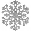 Silver shiny snowflake — Stock Photo