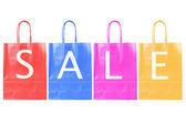 Barvy prodej nákupní tašky — Stock fotografie