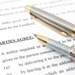 Stock Photo: Lease agreement and pen