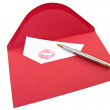 Love Letter and pen — Stock Photo