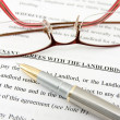 Stock Photo: Tenant agreement with landlord