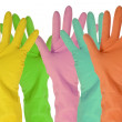 Five color  gloves - Stock Photo