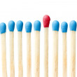 Red match showing leadership concept — Stock Photo #9128556