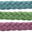 Three color ropes — Stock Photo