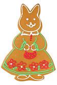 Handmade baked rabbit — Stock Photo