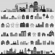 Set of icons of houses. — Stock Vector #10052096