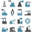Stock Vector: Set of icons on theme industry.